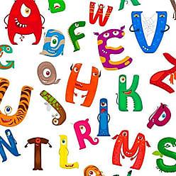 Lar Adesivos Papel de Parede Infantil Escolinha Alfabeto Lavável N3933