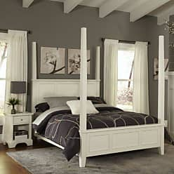 Home Styles Naples White King Poster Bed & Night Stand by Home Styles
