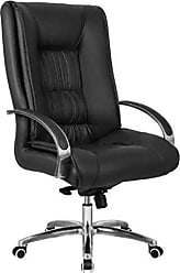 Pelegrin Cadeira Presidente Giratória Em Couro Pu Preta Pelegrin Pel-8017h