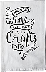 Primitives By Kathy LOL Made You Smile Tea Towel, Drink Your Wine