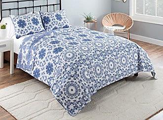 Ellery Homestyles Vue Stella Quilt Set, Twin X-Large, Blue