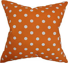 The Pillow Collection The Pillow Collection Nancy Polka Dots Pillow, 18 x 18, Orange