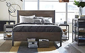 Home Styles Barnside Metro Gray Queen Bed, 2 Night stands with Chest by Home Styles