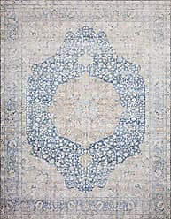 Loloi Rugs Loloi ll Layla Collection LAY-07 Classic Traditional Area Rug 50 x 76 Blue/Tangerine