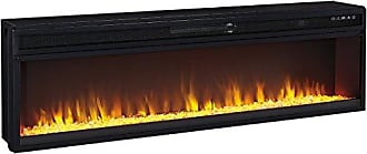 Ashley Furniture Signature Design - Wide Fireplace Insert - TV Stand Sold Separately - LED Fire Display - Temperature Control - Black