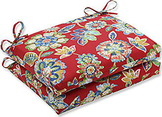 Green Floral Indoor//Outdoor Wicker cushions Two U-Shape and Loveseat 3 Piece Set Daelynn Cherry Red with Blue Yellow
