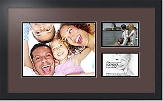 Art to Frames Collage Photo Frame Double Mat with 1 - 9x12 and 2 - 4x6 Openings and Satin Black Frame