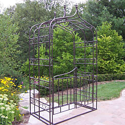 Oakland Living 8.5-ft. Iron Gothic Arbor with Gate - 5127-HB