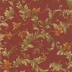 Brewster Home Fashions Alessia Scrolling Leaf Wallpaper Beige - 414-43338