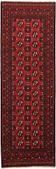 Nain Trading Oriental Afghan Akhche Rug 79x26 Runner Dark Brown/Rust (Wool, Afghanistan, Hand-Knotted)