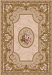Milliken Carpet 4000032496 Pastiche Collection Montfleur Octagon Area Rug, 77 x 77, Ecru