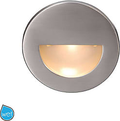 WAC Lighting WAC LEDme Round Indoor/Outdoor Step and Wall Light in Brushed Nickel