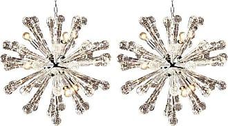 VENINI 2 Italian Mid-century Murano / Venetian Glass starburst / Sputnik Chandeliers