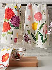 Danica Studio Flowers of the month floursack tea towels Set of 3