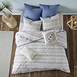 Urban Habitat Rochelle King/Cal King Size Teen Boys Quilt Bedding Set - Blue, Geometric - 7 Piece Boys Bedding Quilt Coverlets - 100% Cotton Bed Quilts Quilted Coverlet