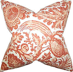 The Pillow Collection Cadeau Floral Bedding Sham Orange Queen/20 x 30