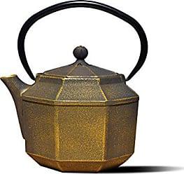 Old Dutch International 1068BC Black/gold Cast Iron Pagoda teapot 30 OZ