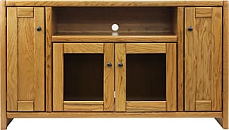 American Heartland 4-Door Oak TV Stand Classic Bourbon - 41855CB
