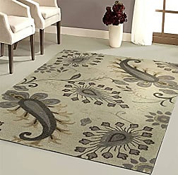 L.R. Resources Inc. GLAMO06010LTG80A0 Glamour LR06010-LTG80A0 Light Gray Rectangle 8 X 10 ft Indoor Area Rug, 8 x 10