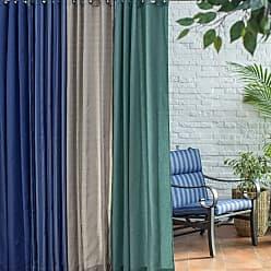 Belham Living Catalina 96 in. Outdoor Curtain Panel Stripe Blue - CATALINA64