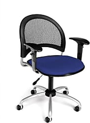 OFM 336-AA3-2210 Moon Swivel Chair with Arms, Royal Blue