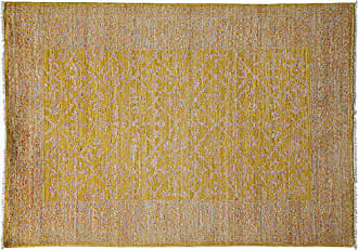 Solo Rugs Hand Knotted Area Rug 42 x 510 Yellow