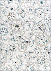 Tayse Tammy Transitional Floral Cream Non-Skid Rectangle Area Rug, 6.7 x 10