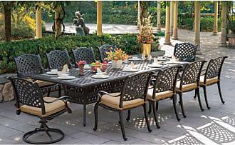 DARLEE Outdoor Darlee Nassau 11 Piece Aluminum Rectangular Patio Dining Set - DL13-11PC-302XL