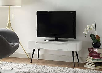 4D Concepts Black & White Console TV Stand with Drawer - 124903