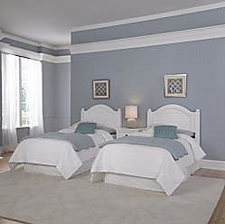 Home Styles Bermuda Two Headboards and Night Stand, Twin, White