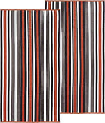 Home City Inc. Superior 100% Cotton 550 GSM, Soft, Plush and Highly Absorbent Rope Stripe Textured Oversized Beach Towel (Set of 2)