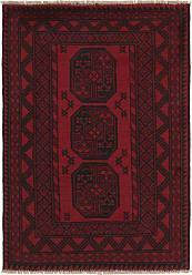 Nain Trading Handknotted Afghan Akhche Rug 410x34 Dark Grey/Purple (Wool, Afghanistan)