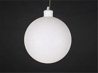Queens of Christmas WL-ORN-BLKG-100-WH-W WL-ORN-BLKG-100-WH-W - 100mm Glitter White ball ornament w/wire