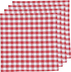 Now Designs Set of Four Napkins, Red and White Gingham