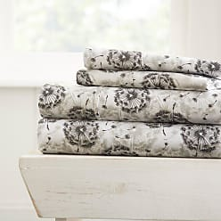 Noble Linens Make a Wish Sheet Set by Noble Linens, Size: Queen - NL-4PC-MAW-QUEEN-LGRAY