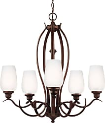 Feiss Standish 5 - Light Chandelier in Oil Rubbed Bronze with Highlights