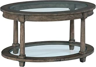 Hekman Furniture Lincoln Park Oval Glass Top Coffee Table