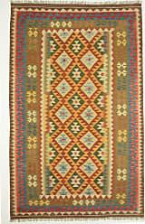 Nain Trading Hand Woven Kilim Afghan 86x53 Beige/Brown (Wool, Afghanistan)