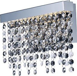ET2 Contemporary Lighting Midnight Shower LED Wall Sconce in Polished Chrome