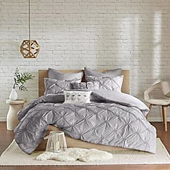 Urban Habitat Talia Teen Girls Duvet Cover Set King/Cal King Size - Grey, Pintuck - 7 Piece Duvet Covers Bedding Sets - Ultra Soft Microfiber Girls Bedding Bed Sets