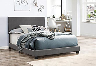 Crown Mark 5271PUGY-F Erin Upholstered Bed, Full, Grey