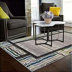 Home City Inc. Superior Gem Border Collection, 6mm Pile Height with Jute Backing, Quality and Affordable Area Rugs, 2 x 3 Grey