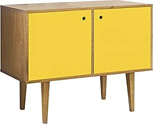 Mobly Buffet Vintage 358-0166 Madeira & Amarelo