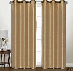 United Curtain VINT84GO Vintage Window Curtain Panel Pairs, 74 X 84, Gold,74 X 84