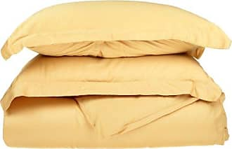 Home City Inc. Superior 530 Thread Count, Combed Cotton, Single Ply, Twin Duvet Cover Set, Solid, Gold