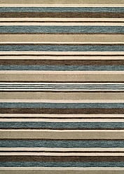 Couristan Mystique Collection Bliss Rug, Ivory/Teal/Brown, 8 by 10-Feet