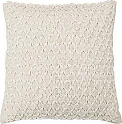 Ellery Homestyles Beautyrest Laurel Woven Embellishment Decorative Pillow, 16 x 16, Ivory