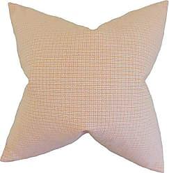 The Pillow Collection Hye Plaid Bedding Sham Orange Standard/20 x 26