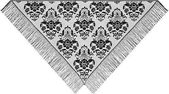 Heritage Lace 72-Inch by 36-Inch Halloween Damask Shawl, Black