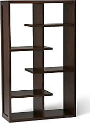 Simpli Home Simpli Home AXCCMD-12-MAB Camden Solid Wood 60 inch x 36 inch Industrial Bookcase in Medium Auburn Brown